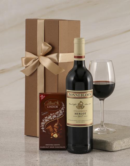 christmas: Zonnebloem Merlot Duo Gift Box!