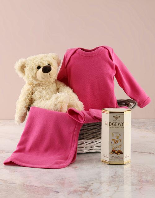 baby: Pink Clothing Gift Basket!