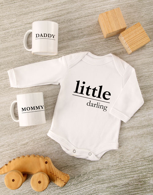 mothers-day: Little Darling Baby Onesie Set!