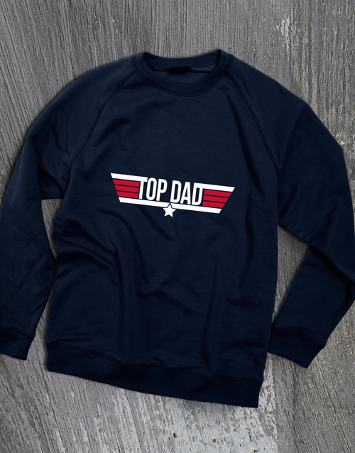 fathers-day: Top Dad Navy Sweatshirt!