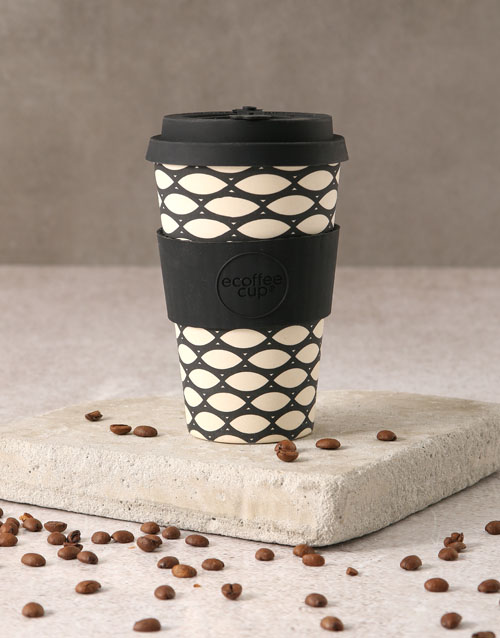 christmas: Black and White Geometric Travel Eco Cup!