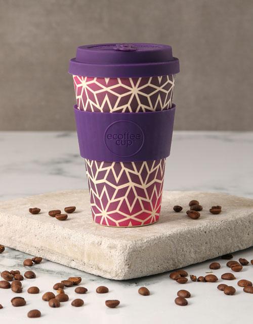 christmas: Purple Ornate Travel Eco Cup!