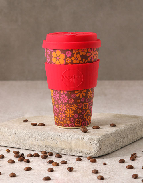 christmas: Pink Floral Travel Eco Cup!