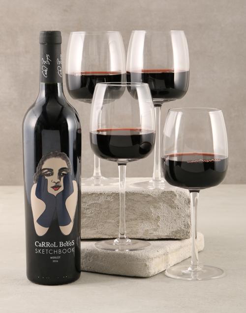 rosh-hashanah: Carrol Boyes Lumina Red Wine Glass Set !