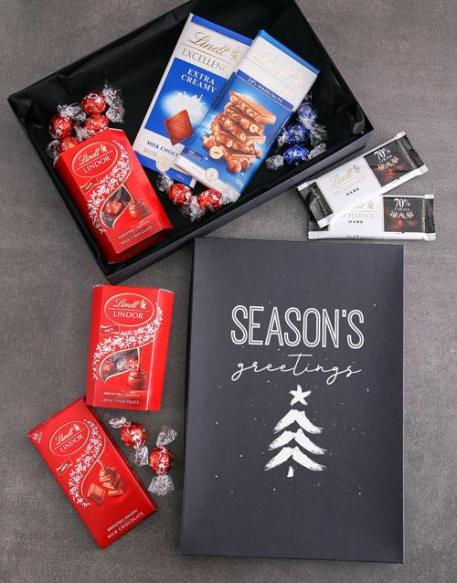 christmas: Seasons Greetings Lindt Chocolate Box!