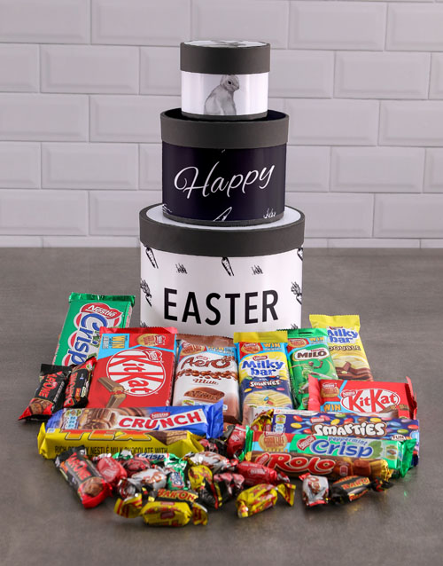 easter: Chocolate Easter Bunny Hat Box Tower!
