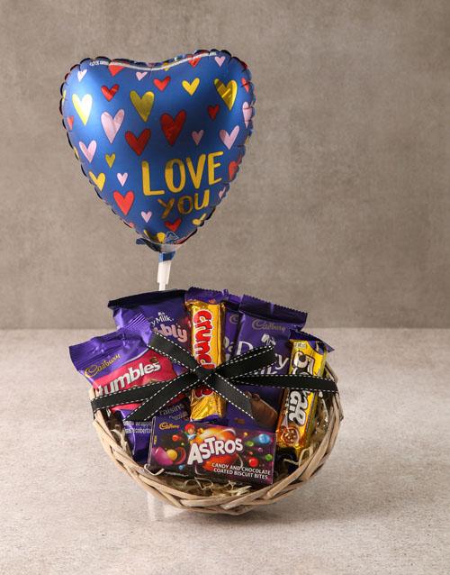 valentines-day: Cadbury Choc Love Basket Hamper!