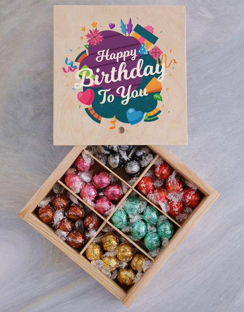 birthday: Lindt Chocolate Birthday Crate!