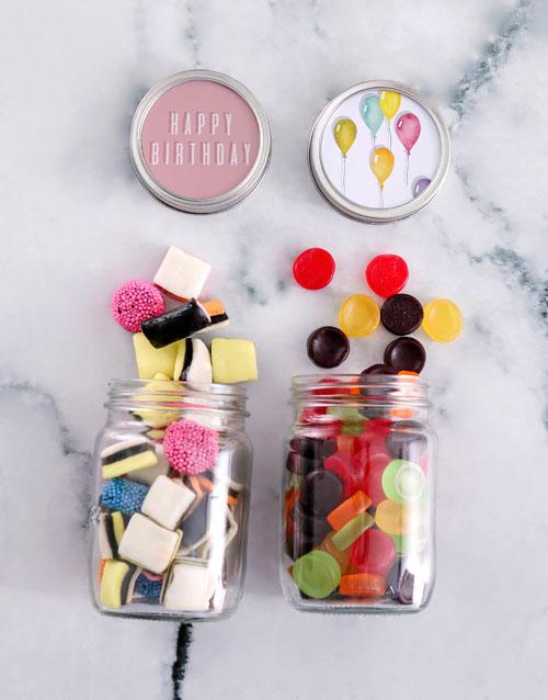chocolate: Bright Birthday Sweet Jars!