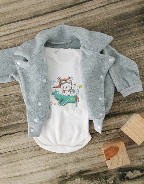 baby: Aviator Jacket with Plane Onesie!