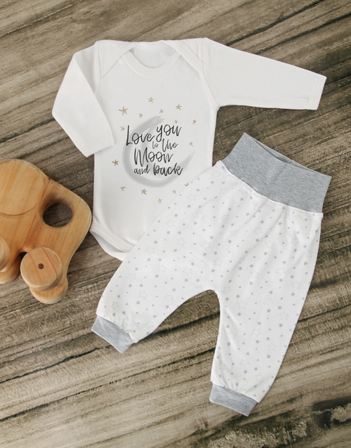 baby: Love You to the Moon and Back Outfit!