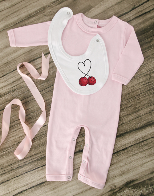 baby: Sweet Cherry Pink Outfit!