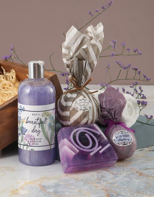 bosses-day: Beautiful Day Purple Bath Hamper!