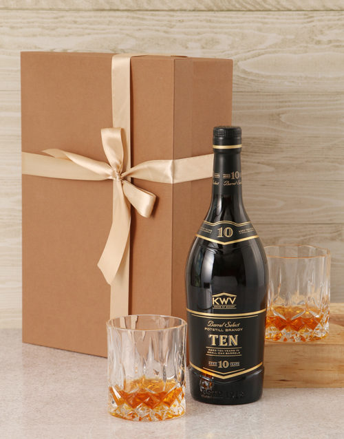 christmas: KWV 10 Year Brandy Set!