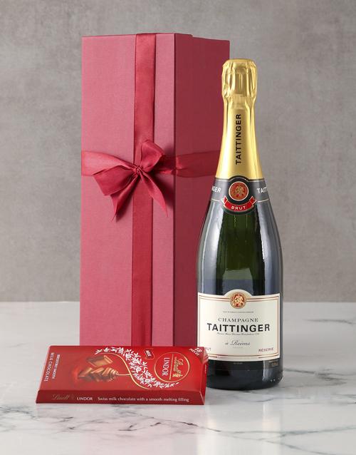 christmas: Taittinger Brut Champagne Gift Hamper!