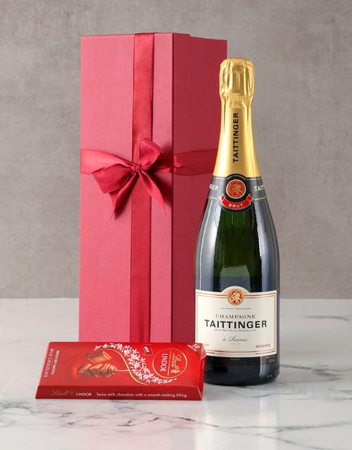 valentines-day: Taittinger Brut Champagne Gift Hamper!