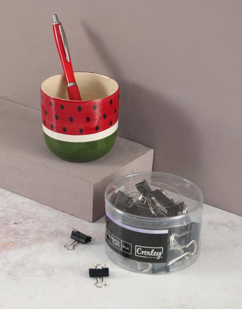 stationery: Watermelon Pen Holder Set!