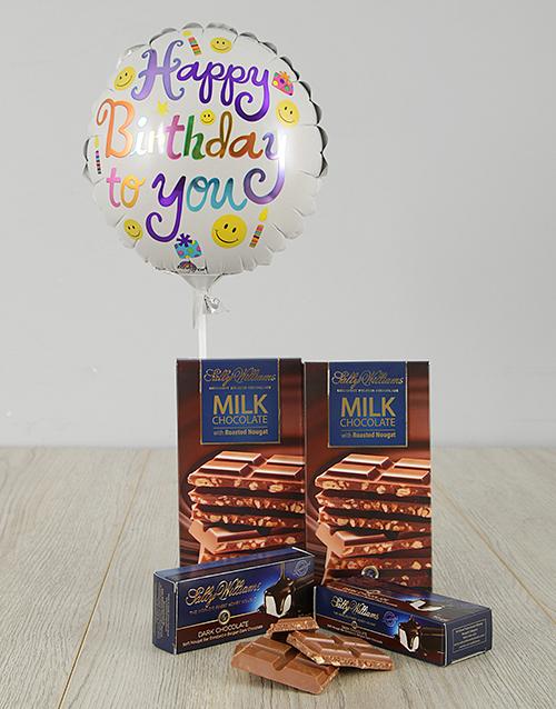 balloon: Happy Birthday Choc Nougat Gift!