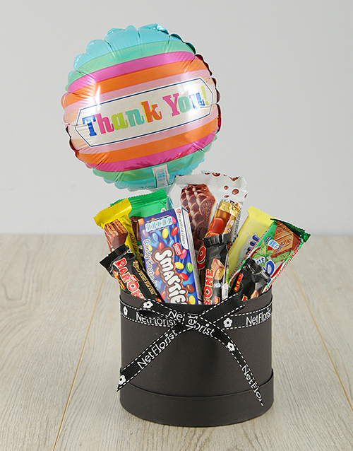 thank-you: Thanks Nestle Hamper With Balloon!