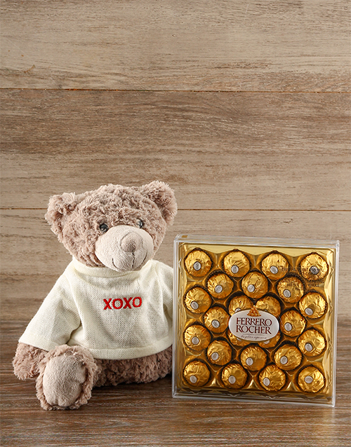 chocolate: Hugs & Kisses Teddy & Ferrero Rocher Chocs!
