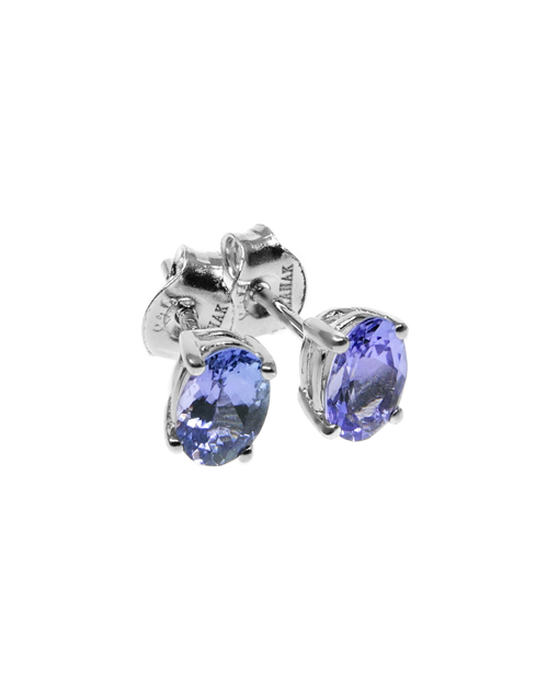 sale: Silver 1,25ct Oval Claw Tanzanite Earrings!