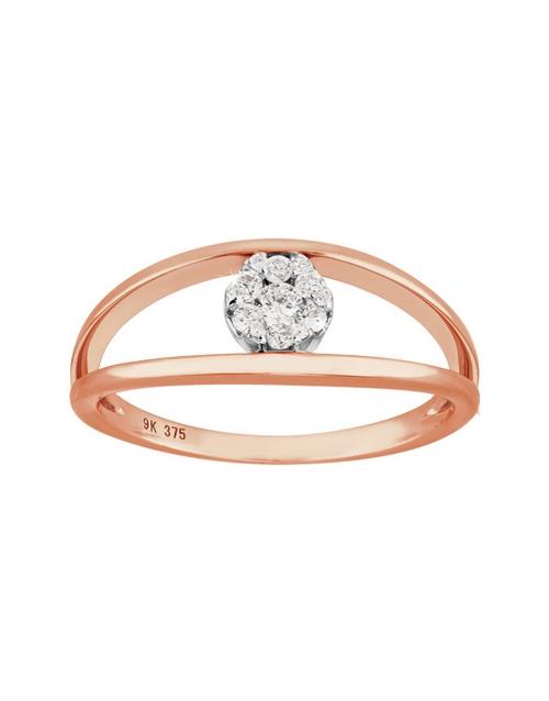 rings: 9KT Rose Gold Diamond 0,16ct Ring!