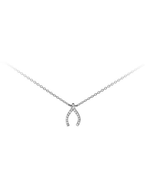 necklaces: 9KT White Gold Wish Bone Diamond Necklace!