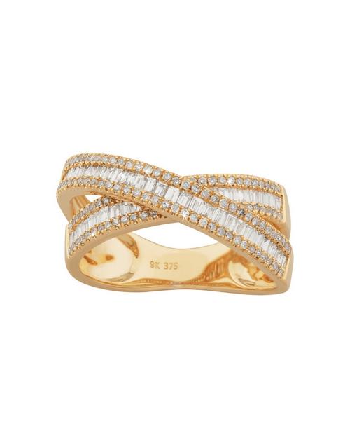 rings: 9kt Yellow Gold Diamond Baguette Cut Ring!