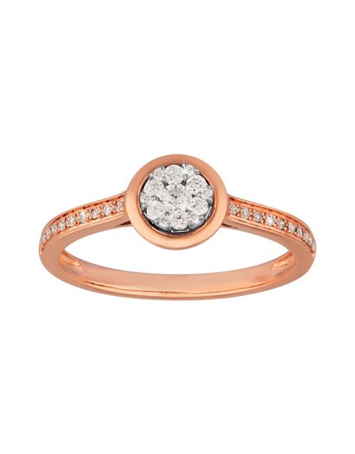 rings: 9kt Rose Gold Diamond 0,21ct Ring!