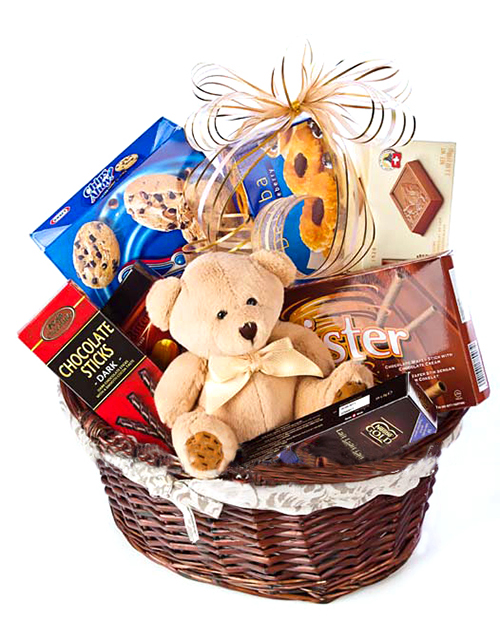 Gifts Teddy Bear And Chocolate Gift Hamper