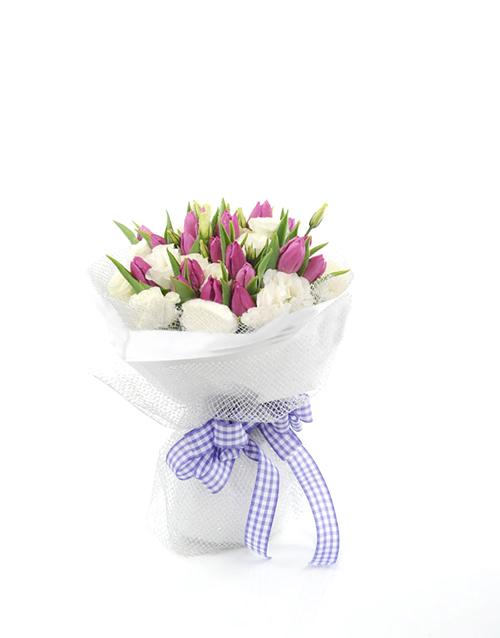 flowers: Purple Tulip Bouquet!