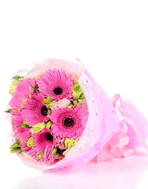 Delightful Pink Daisy Bouquet online