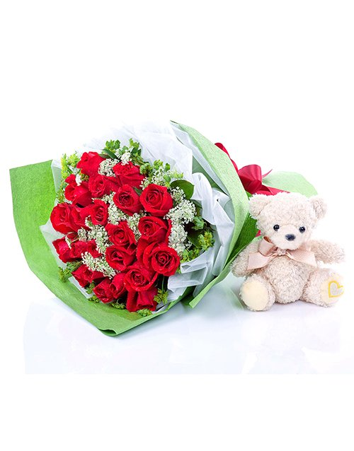 gifts: Lovable Red Rose Bouquet!