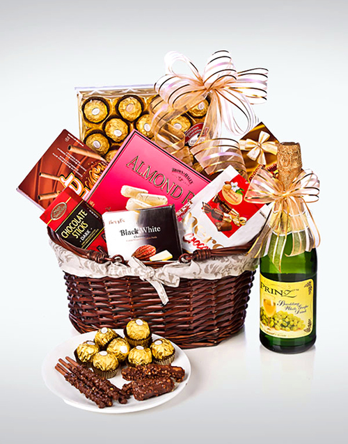 gifts: Sparkling Juice and Chocolate Hamper!