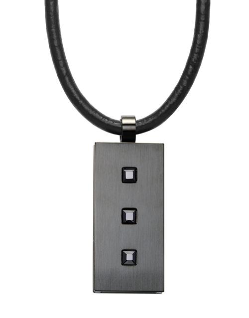 men: ARZ Steel Stainless Steel Black Dog Tag Pendant!
