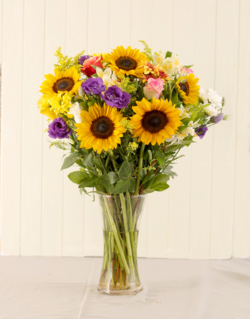 Bright And Beautiful Sunflower Vase Online