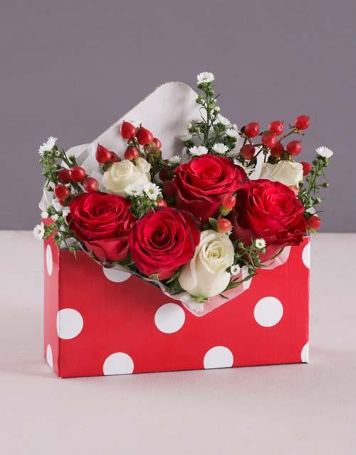 roses: Valentines Polka Dot Rose Box!