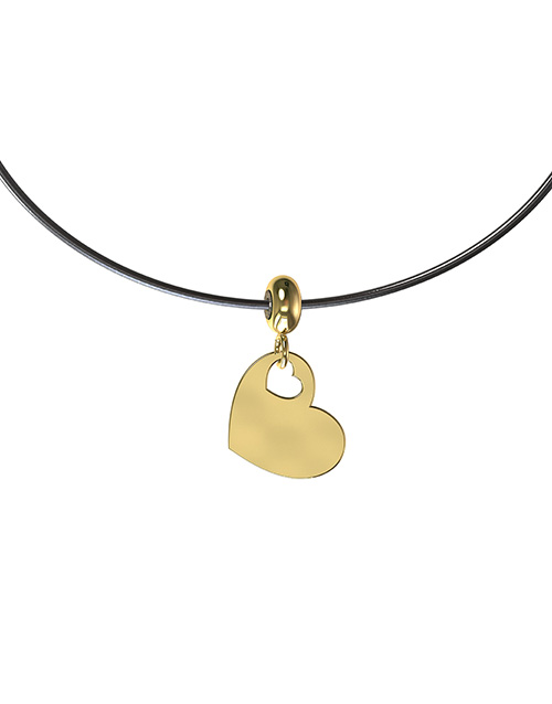 anniversary: Memi Heart Disc Charm Necklace!