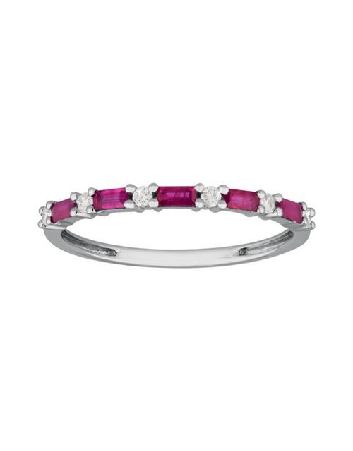 rings: 9kt White Gold Circle of Life Ruby Diamond Ring!
