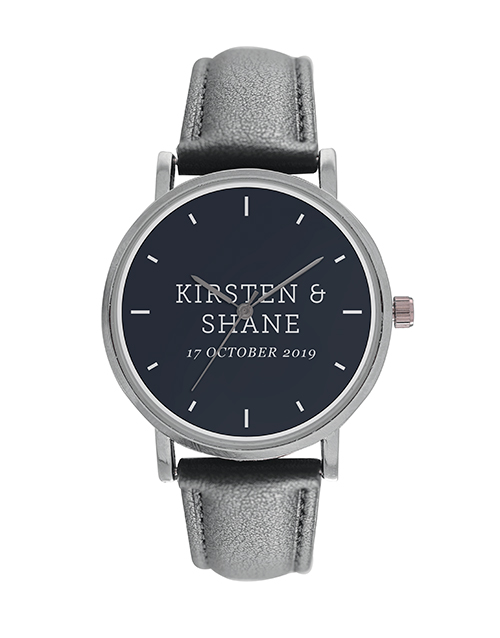 anniversary: Digitime 40mm Personalised Names Watch!