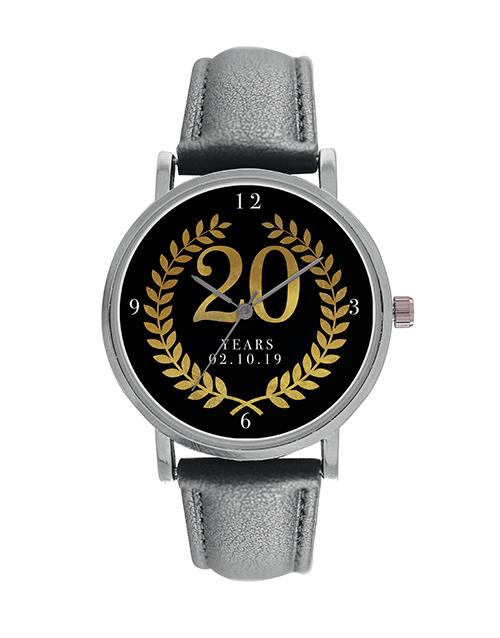 anniversary: Digitime 20 Years Personalised Date Watch!
