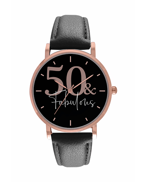 christmas: Personalised Digitime Ladies 50 and Fabulous Watch!