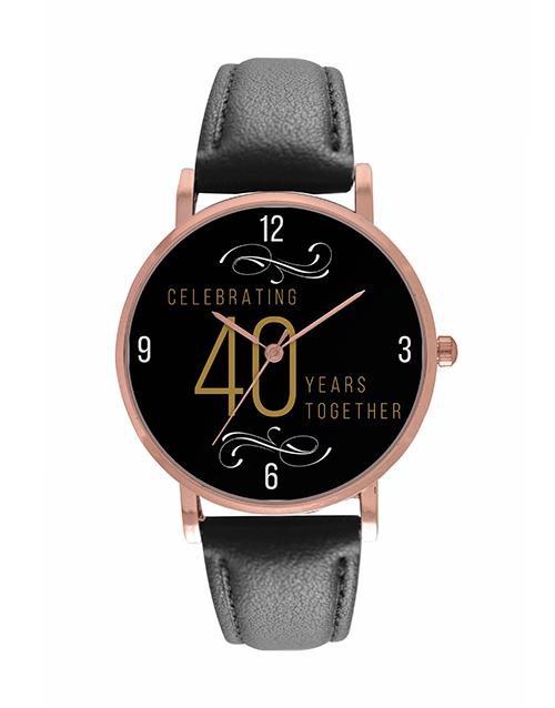 anniversary: Personalised Golden Years Rose Watch!