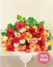 Picture of Buy 12 Mixed Roses Get 6 Free!