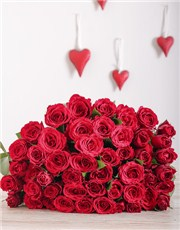 Picture of 12 Red Roses in Cellophane!
