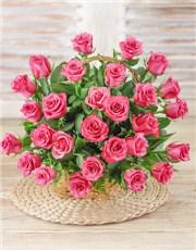Picture of Cerise Rose Basket!