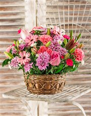 Picture of Pink Flower Basket!
