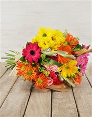 Picture of Mixed Bouquet of Colourful Flowers!