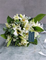 Picture of White Lily Funeral Sheaf!