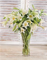 Picture of Elegant White Lilies Bouquet!